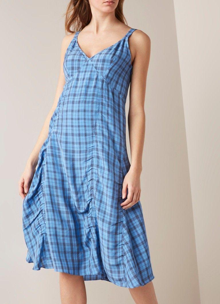 649707037b2bff Acne Studios Darcie A-lijn jurk met ruitdessin • de Bijenkorf  damesmode   jurken