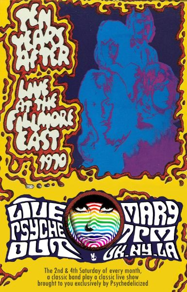 Ten Years After Fillmore East 1970 Psychedelic Poster Music Poster Band Posters
