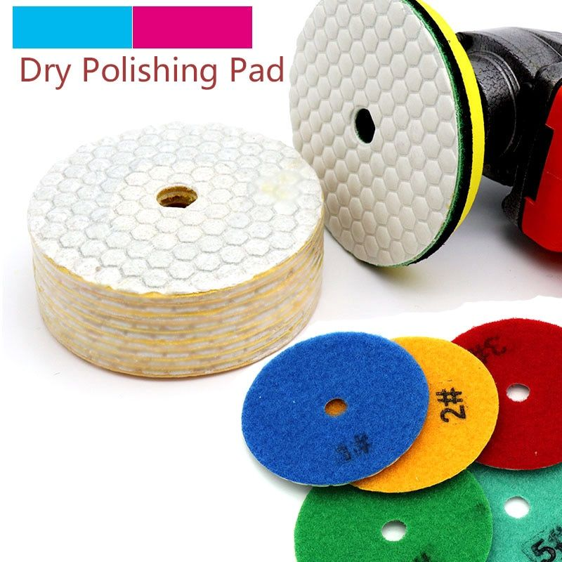 5pcs 3 4inch Dry Grinding Disc Quick Change Polishing Pads 1pcs Stick For Granite Marble Stone Concrete Floor Ai Marble Stones Marble Granite Concrete Floors