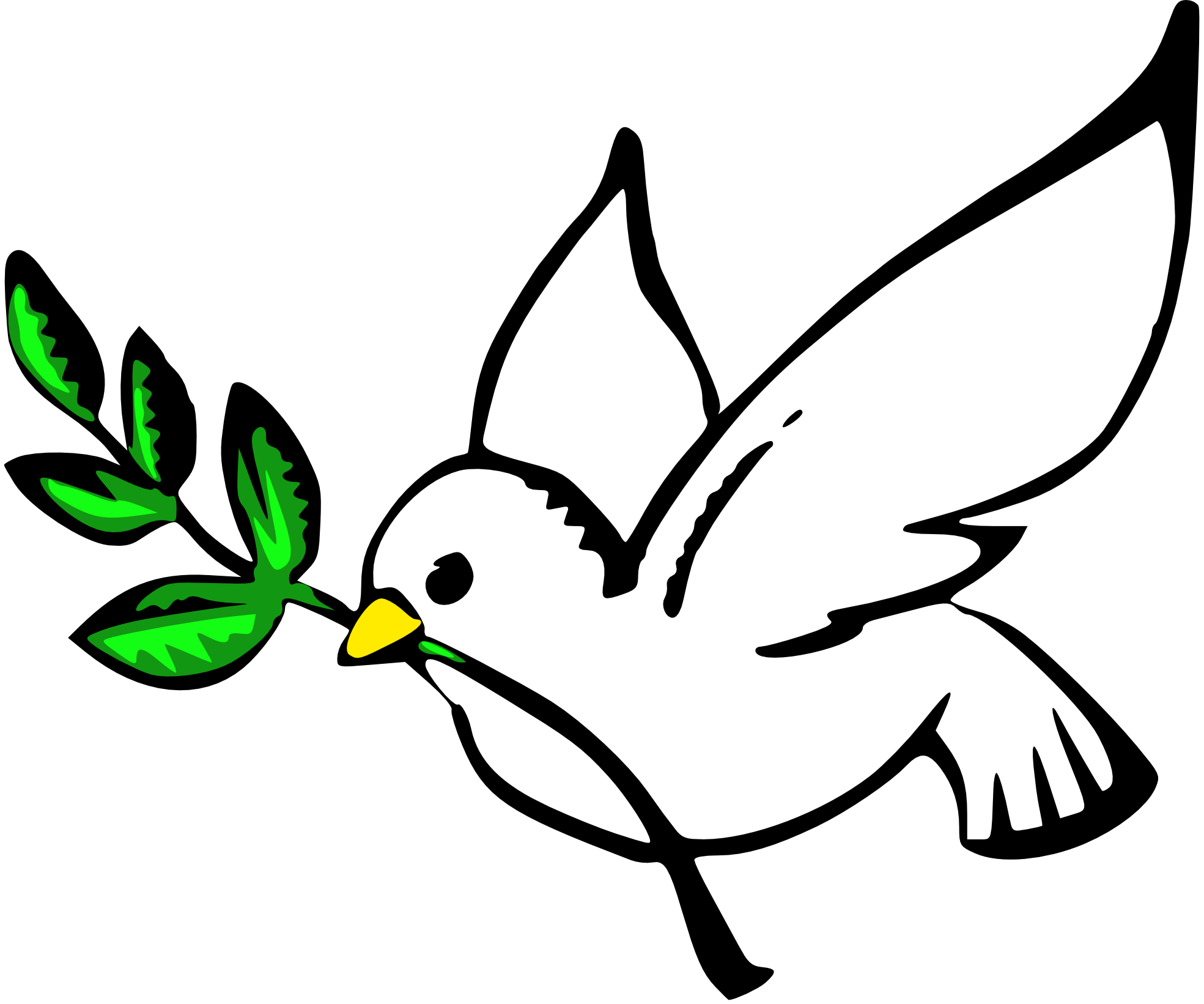 A Dove With An Olive Branch In Its Beak Is A Universal Symbol Of A