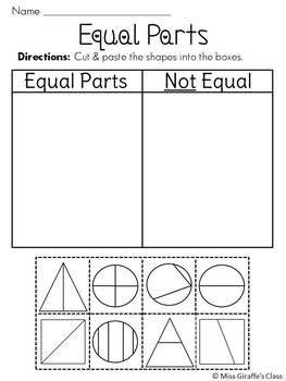 Pin On Math Equal parts worksheets for kindergarten
