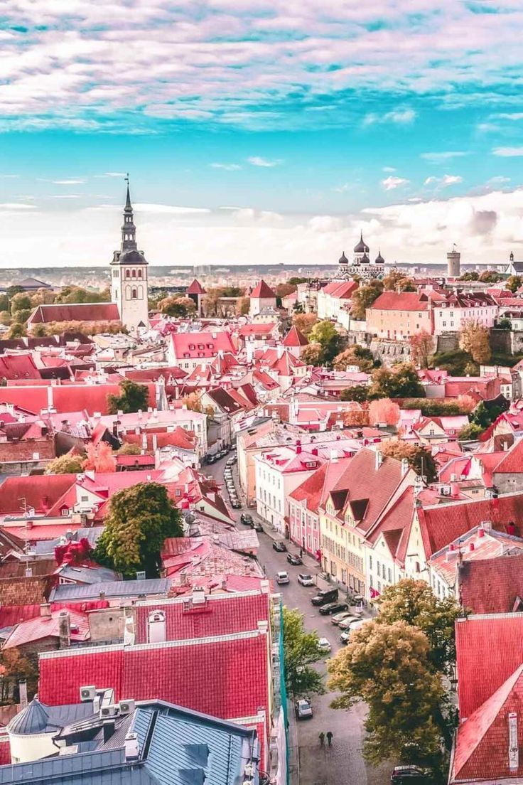 The best viewing point in Old Town Tallinn. If you are planning on traveling to Europe you need to check out Tallinn. It is one of the most beautiful cities in Europe - a real life fairy tale! Check out the top 10 things to do in Tallinn on avenlylanetravel.com   #tallinn #tallinnestonia #estonia #europe #europetravel #travelinspiration #beautifulplaces #bucketlist #travelbucketlist #europebucketlist #avenlylane #avenlylanetravel