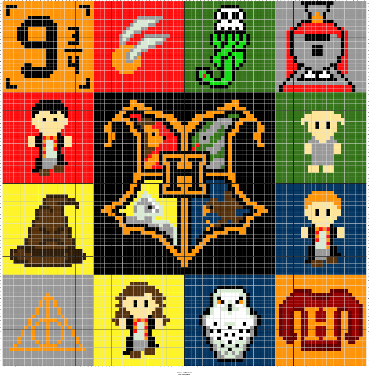 Tema de harry potter ms teesha moore pinterest harry potter stitch fiddle is an online crochet knitting and cross stitch pattern maker bankloansurffo Image collections