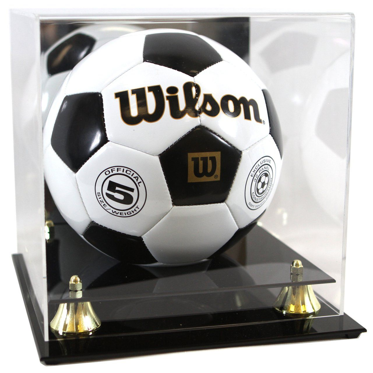 Soccer Or Volleyball Premium Display Case With Gold Risers Futbolnyj Myach I Futbol