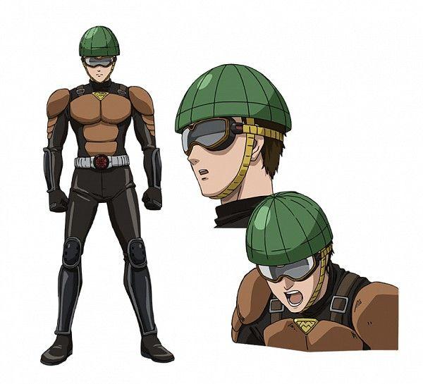 Kubota Chikashi, MADHOUSE, One Punch Man, Mumen Rider, Goggles, Black Handwear, Anime #anime #onepunchman   zerochan.net   www.evilentertainment.ca