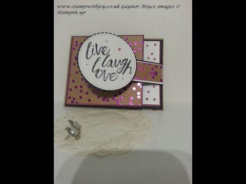 Fun Flap Card Using Layering Love Stampin Up Youtube Tutoriel