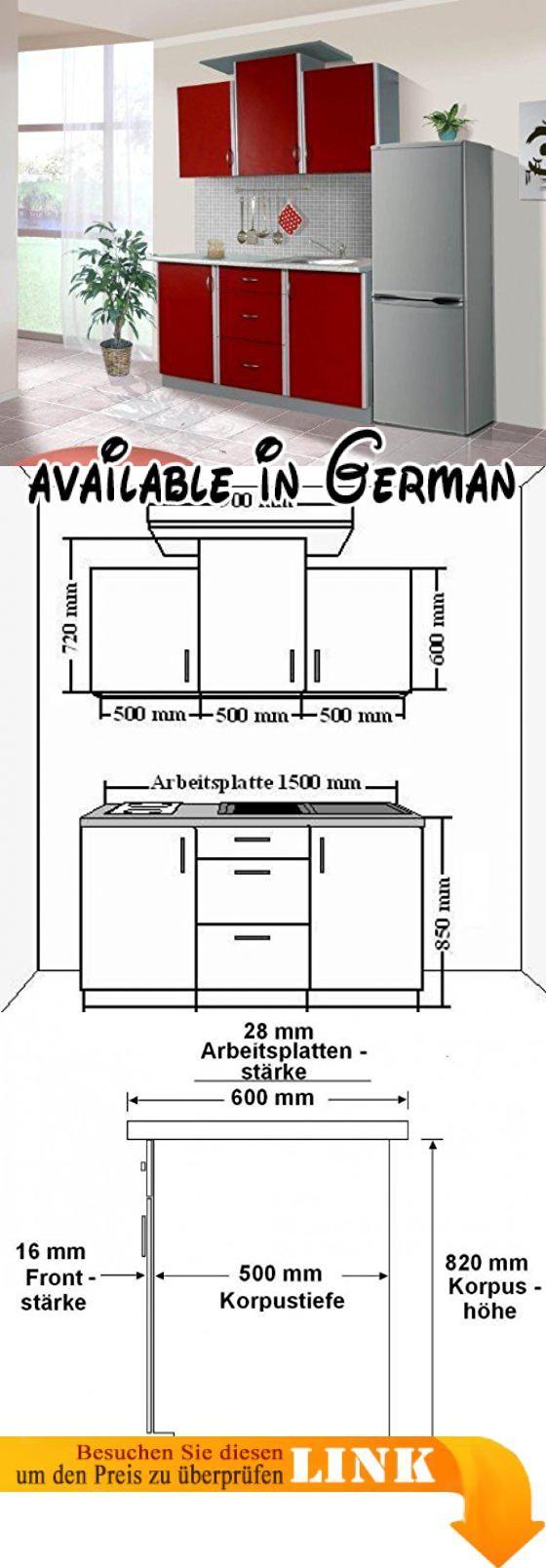 B008MUQJV4 : Küche Sky 150cm Küchenzeile / Küchenblock variabel ...