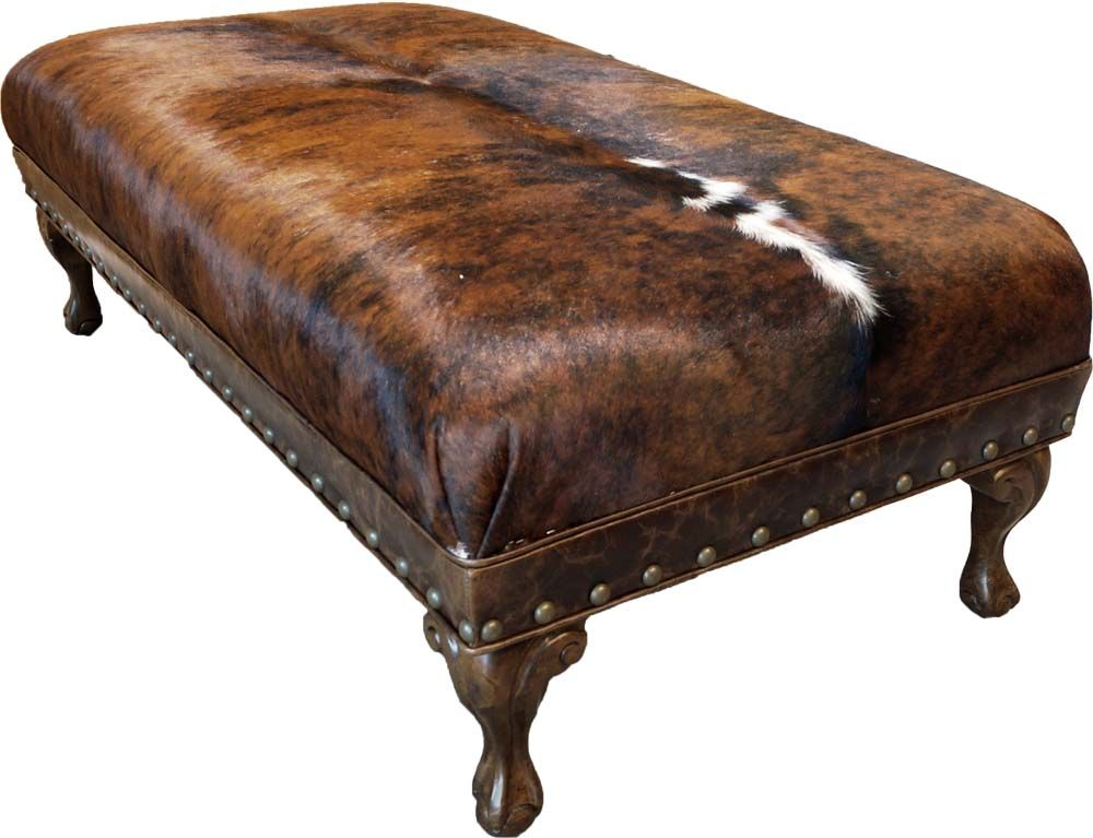 Strange Brindle Cocktail Ottoman In 2019 Cowhide Ottoman Cowhide Ncnpc Chair Design For Home Ncnpcorg