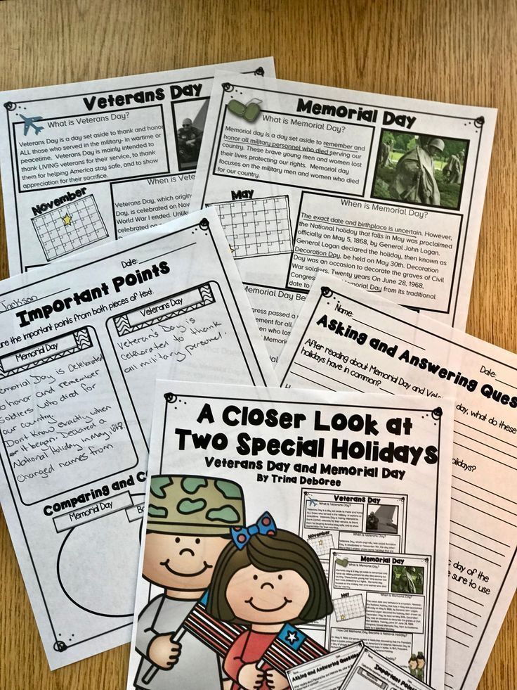 Veteran's Day Compare and Contrast Activity (With images ...