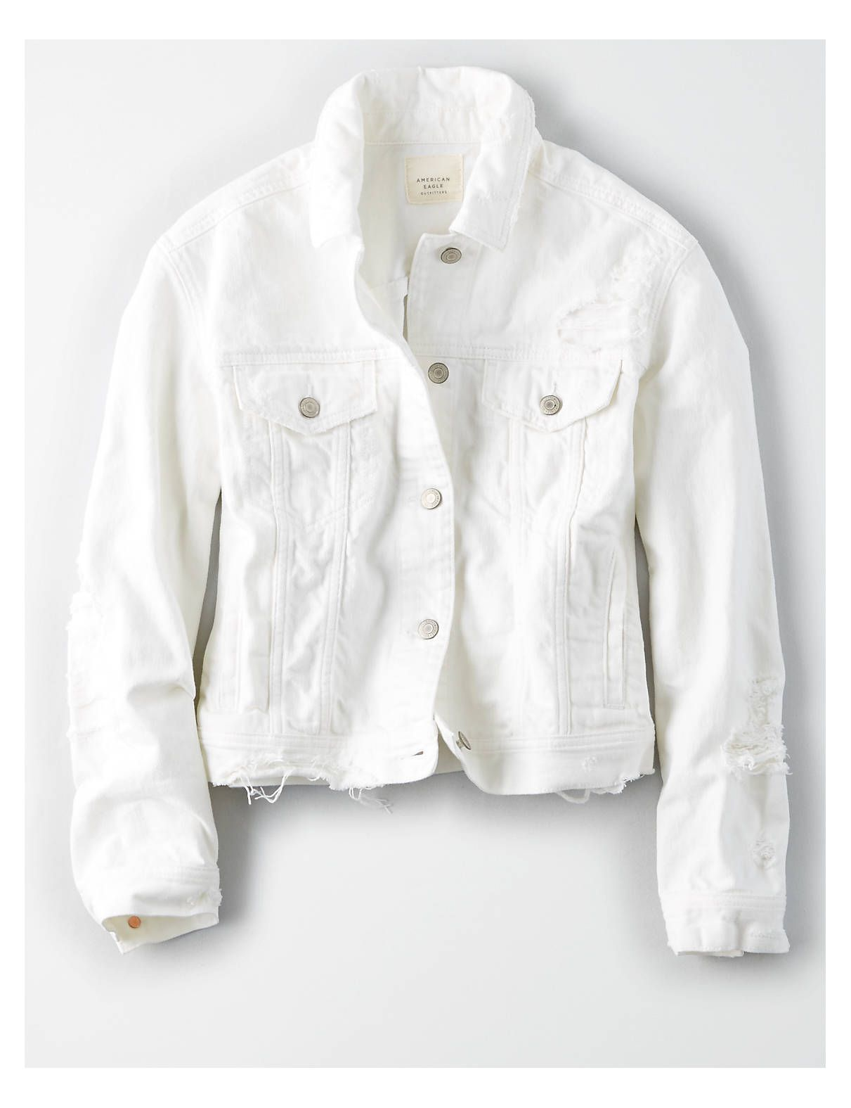 Ae White Denim Jacket White American Eagle Outfitters White Denim Jacket Outfit White Denim Jacket White Jacket Outfit [ 1575 x 1211 Pixel ]