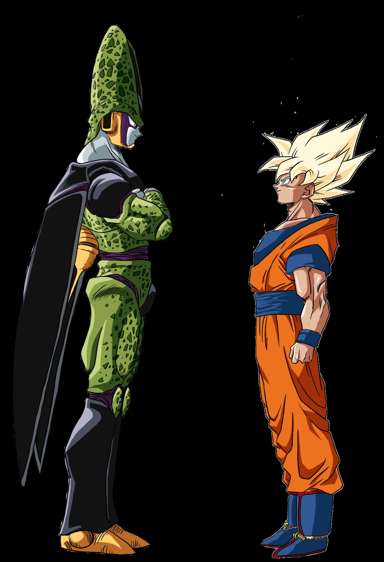 Goku Cell Color Dragon Ball Goku Dragon Ball Super Manga Anime Dragon Ball Super