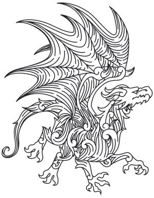 fancy design dragon lamps. Fancy flourishes make up a fierce dragon  Light and regal Nice Downloads