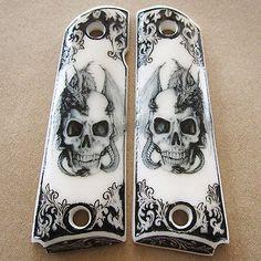 GRIPS COLT 1911 Customer Kimber Skull Clones Full Size Handmade Resin