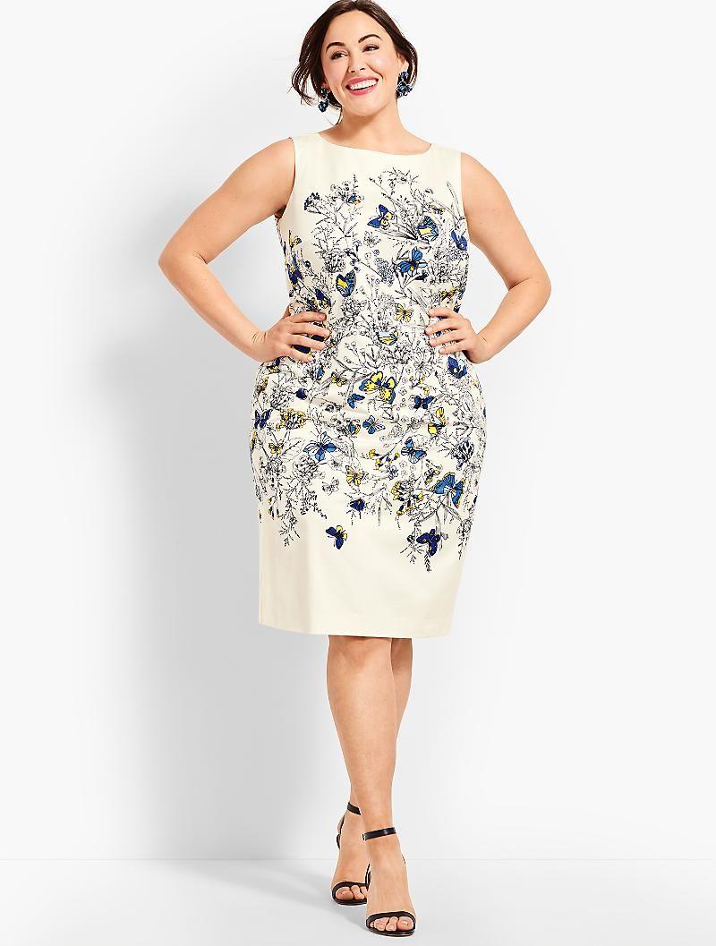 Butterfly Sheath Talbots Simple Dresses Plus Size Dresses Color Combos Outfit [ 1057 x 800 Pixel ]