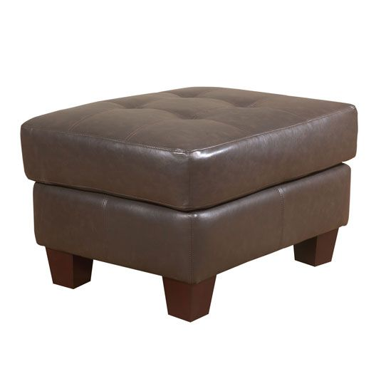 Brown Ottoman In Dark Brown