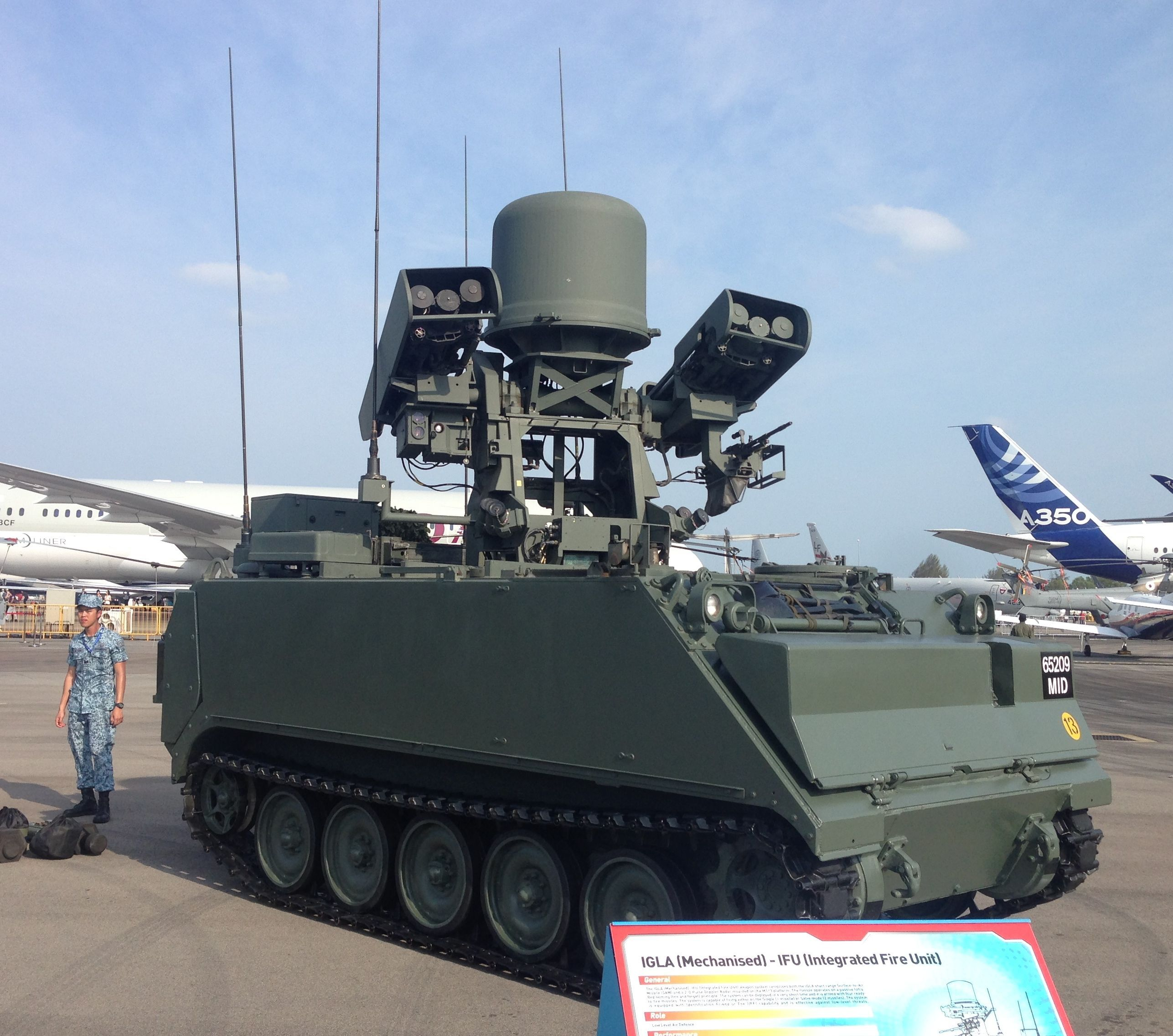 Russian missiles, Singaporean fire control mounted on a US