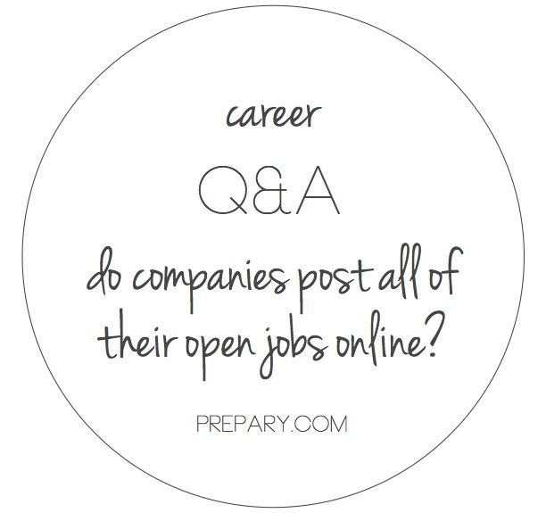 Do companies post all of their jobs online Job search - job qualifications