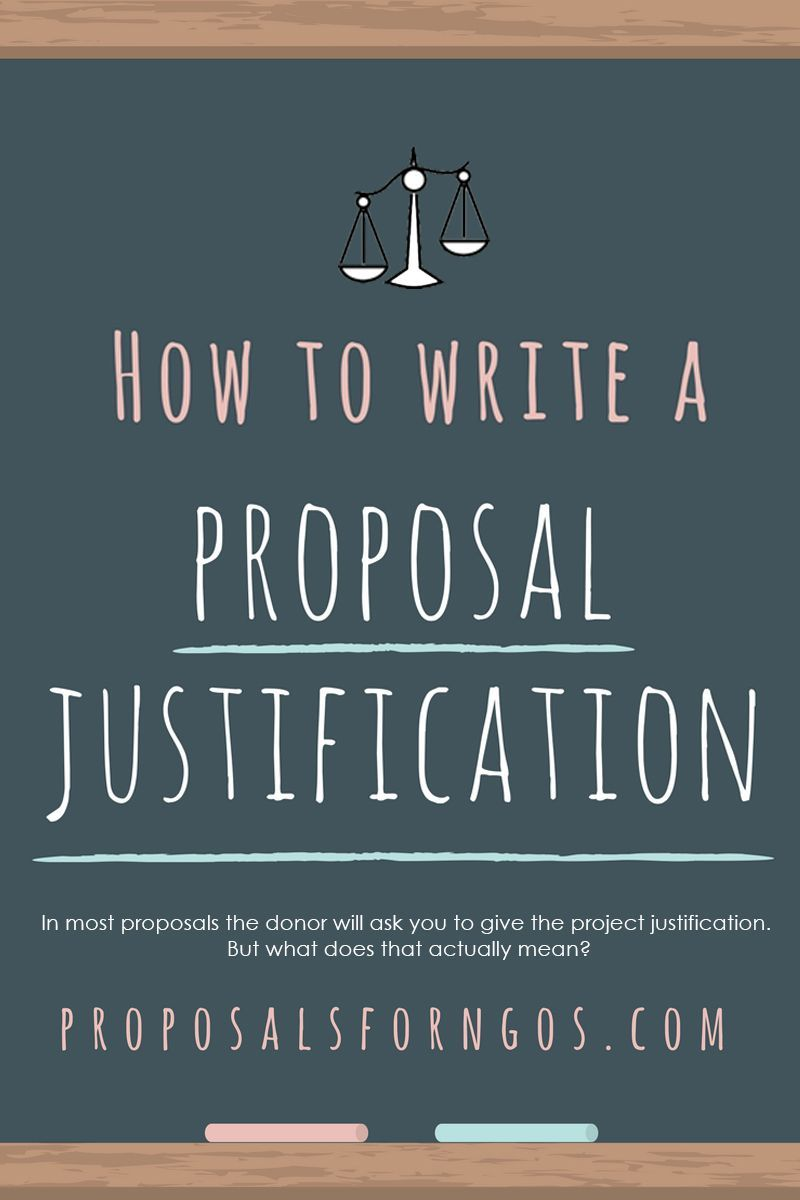How To Write A Project Justification Proposal Proposalwriting