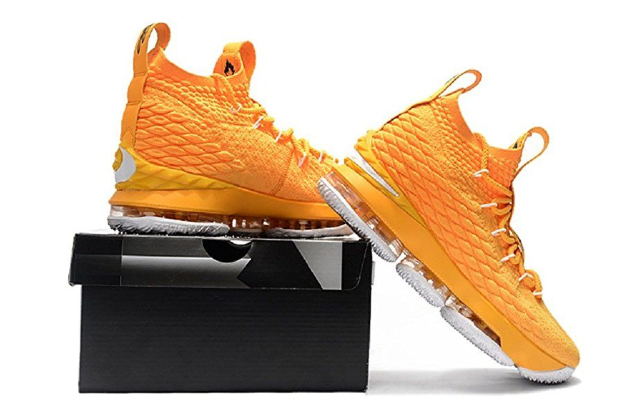 bddfc33ba530 2018 Lebron XV Orange Basketball Shoes
