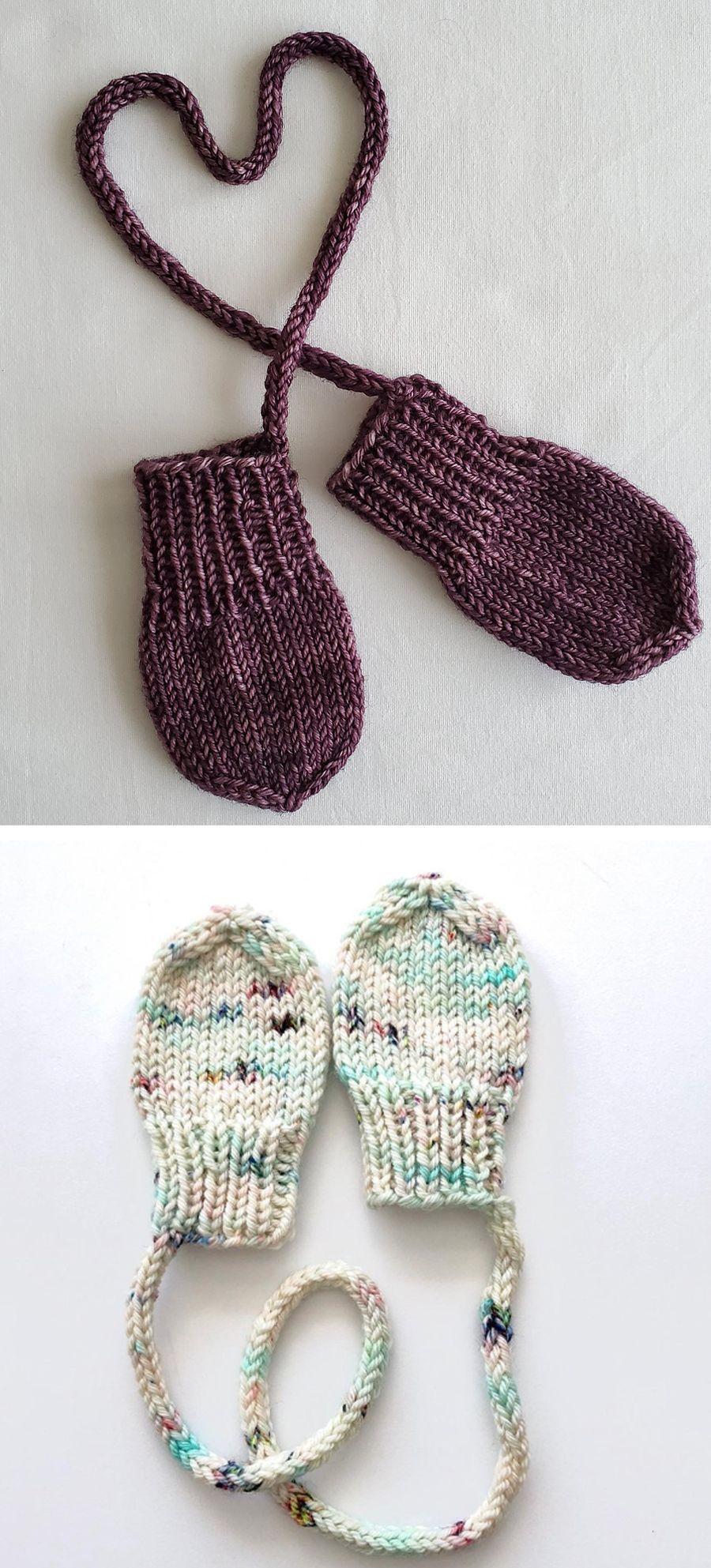 Photo of Tiny Knitted Gloves Free Pattern Strickhandschuhe und Socken #Free …