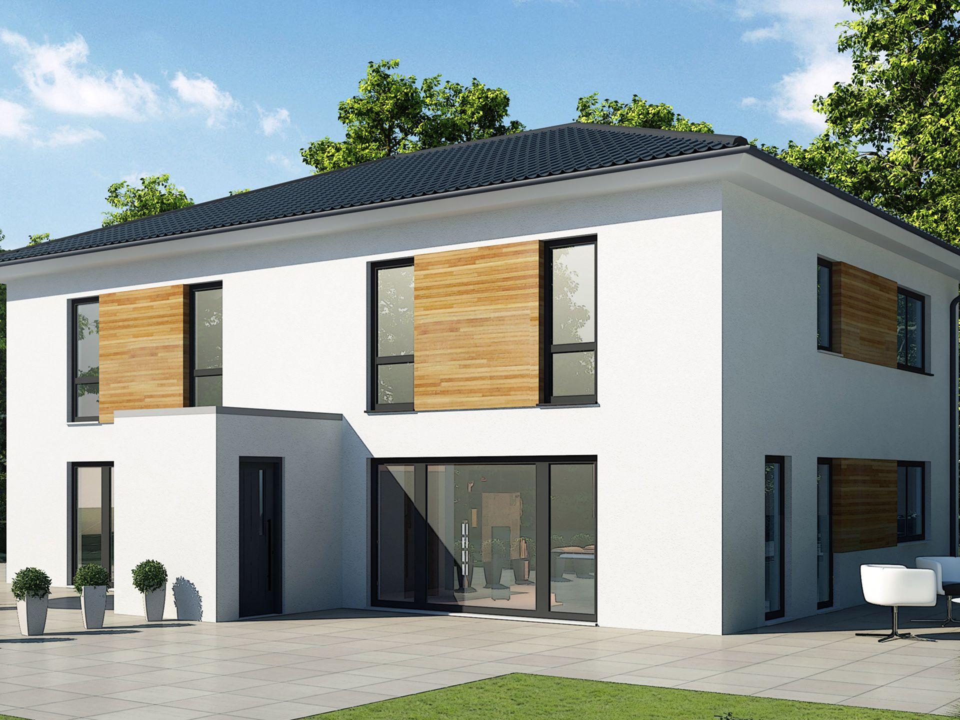 Musterhaus modern walmdach  Doppelhaus 110 M • Doppelhaus von Baudirekt • Individuell ...