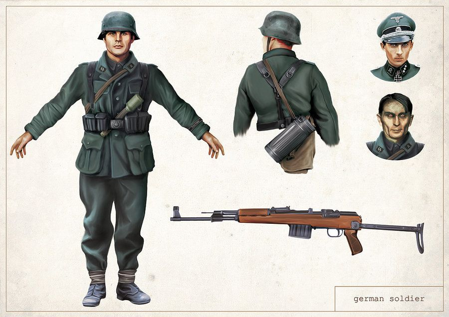 German Soldier Concept Art For Reliquary With Images