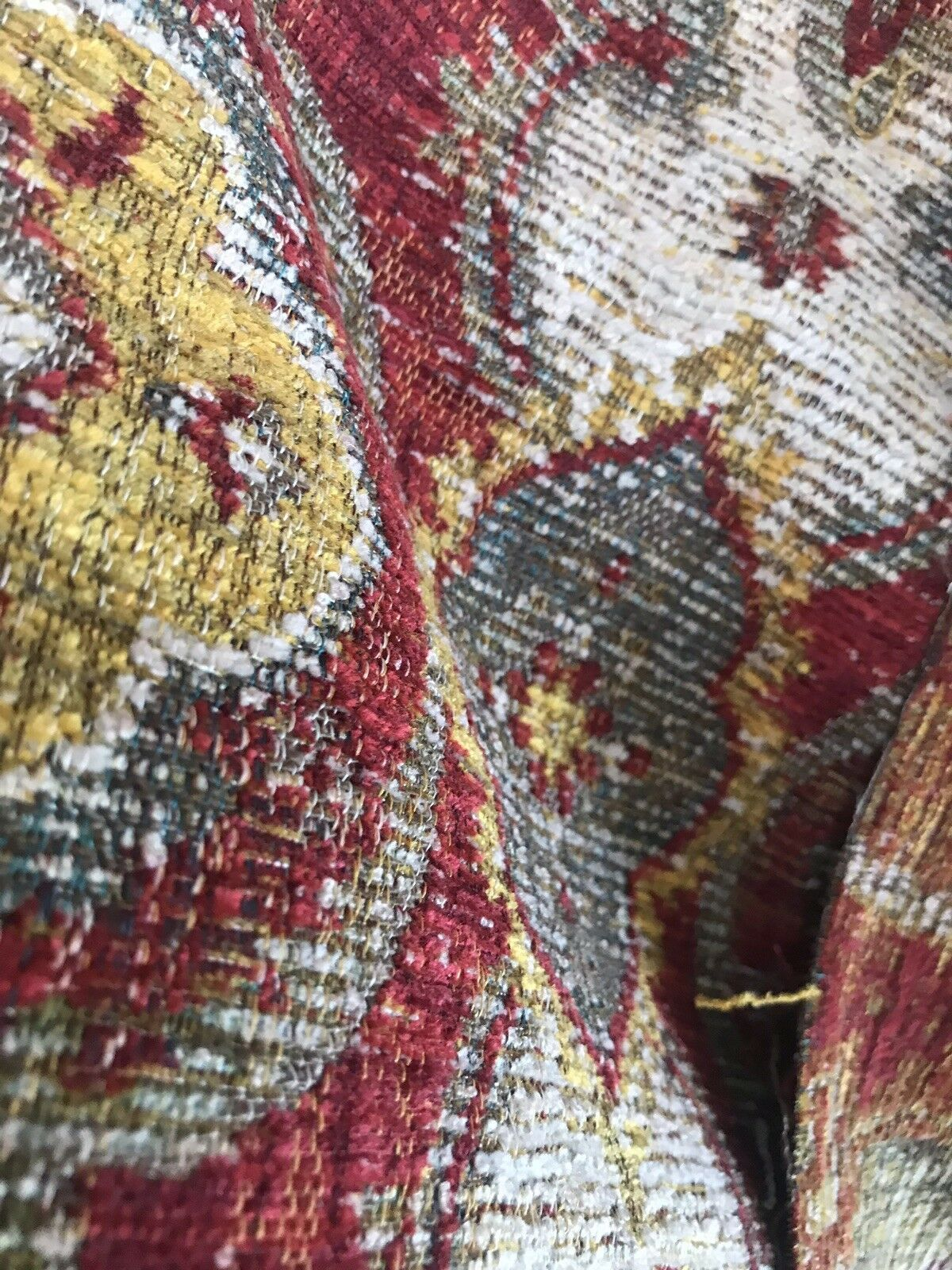 1 Yard Remnant Double Sided Kilim Rug Inspired Upholstery Fabric Red Www Fancystylesfabric Com Kilim Rugs Upholstery Fabric Kilim