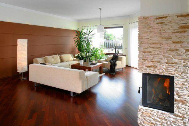Merbau with offwhite sofa and rug  Flooring  Parquet Floors