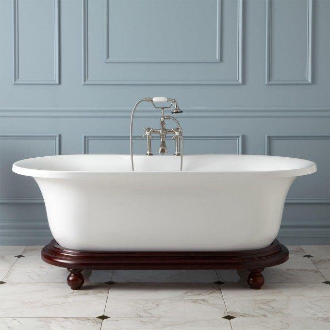 68 Quot Poynter Acrylic Freestanding Tub On Wood Base