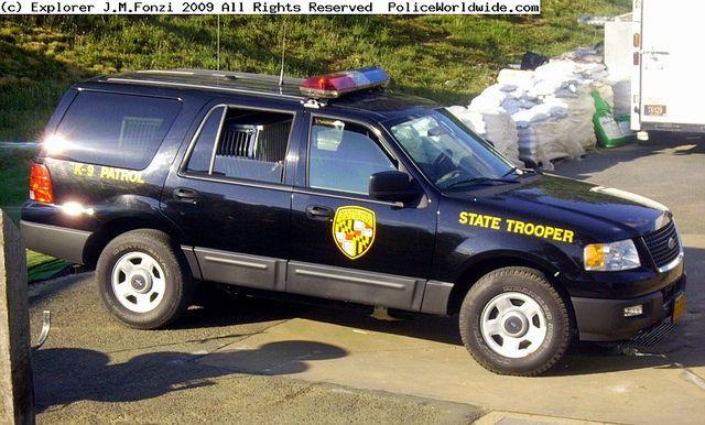 Maryland State Police K9 Patrol Suv Police Cars State Police