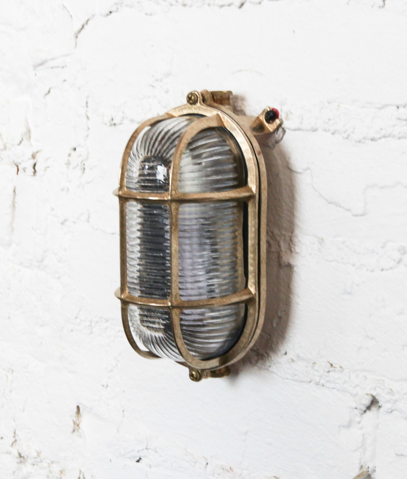 Brass Bulkhead Wall Lights : BULKHEAD LIGHT industrial style wall light polished brass