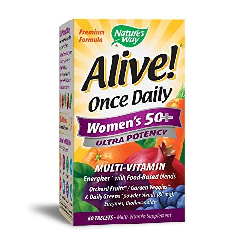 Natures Way Alive Once Daily Womens 50 Multivitamin Ultra Potency FoodBased Blends