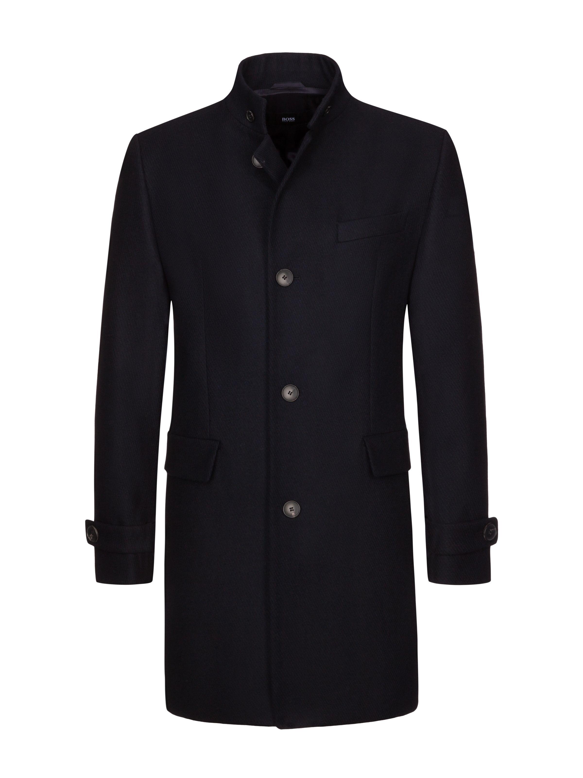 Boss Businessmantel Mit Stehkragen Marine Hirmer Herrenmode Sale Hirmer Munchen Mensfashion Mensstyle Fashio Mens Jackets Casual Boss Outfit Mens Coats
