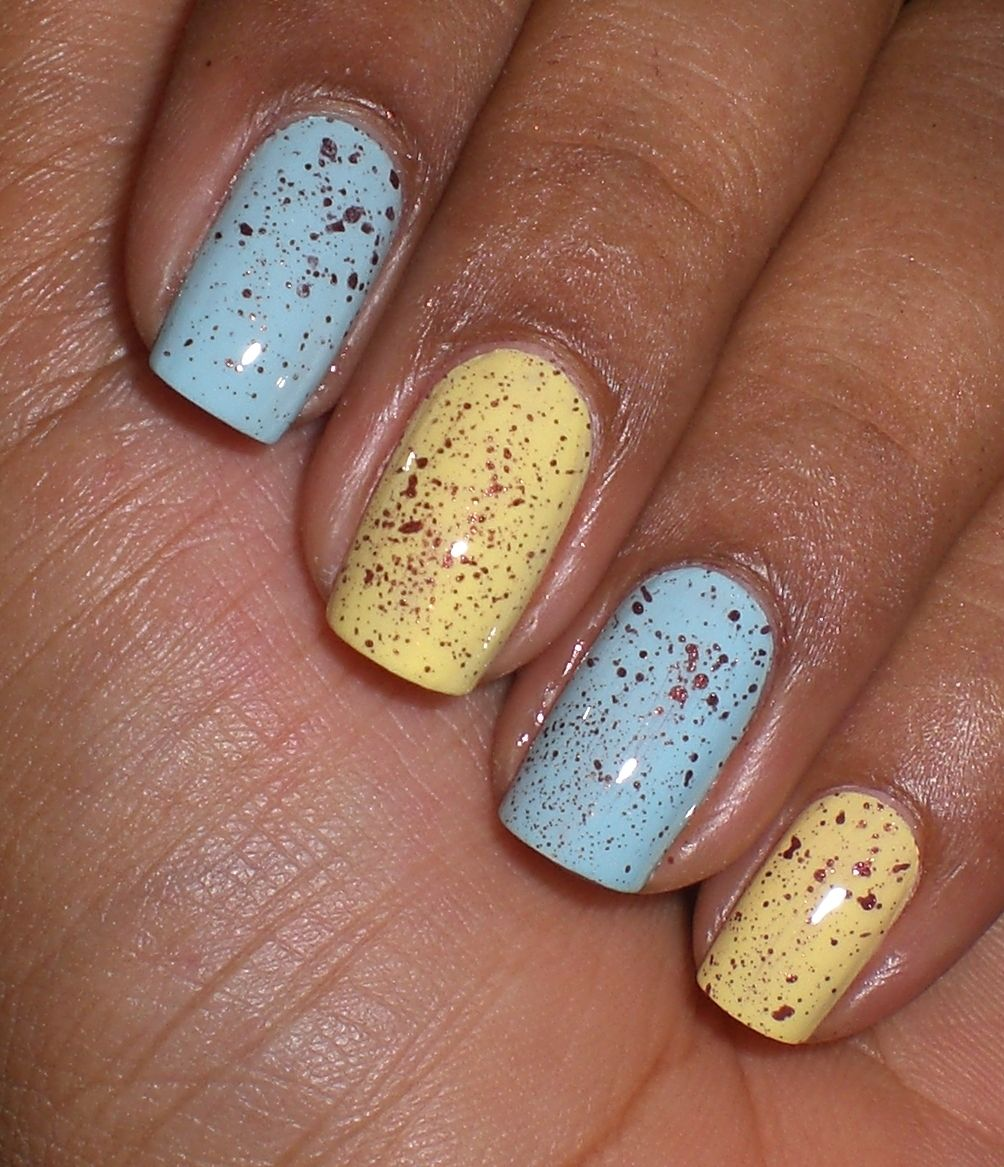 Speckled Nails - would be good for Easter.