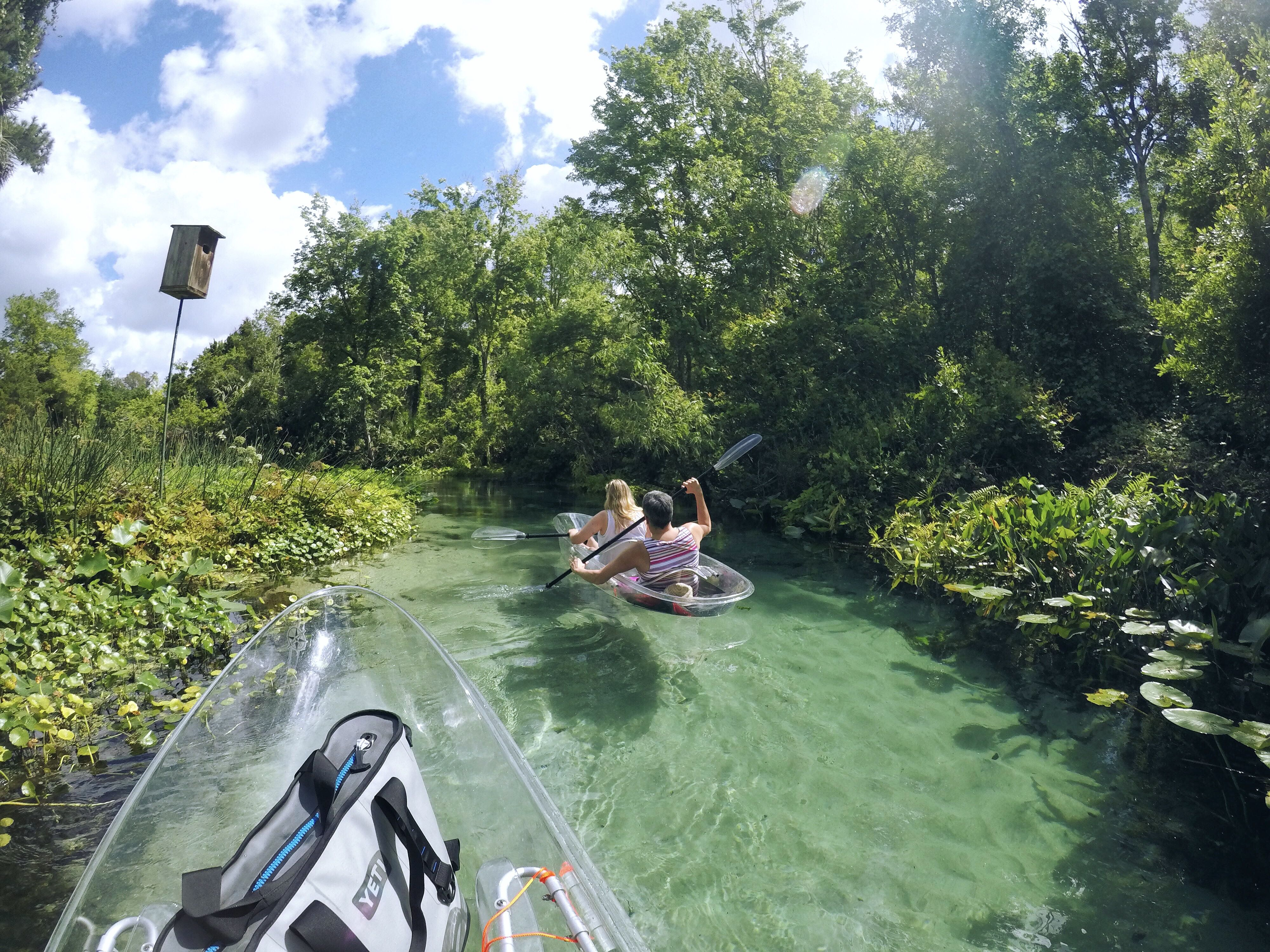 Clear kayaking right here in Central Florida! | Florida travel ...