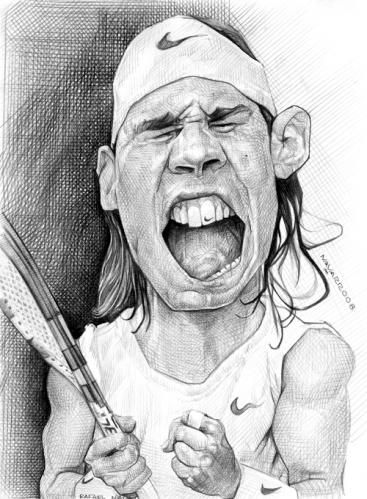 Professional Tennis Player Rafael Nadal Illustration Of Salnavarro Tennis Art Rafael Nadal Tennis Stars