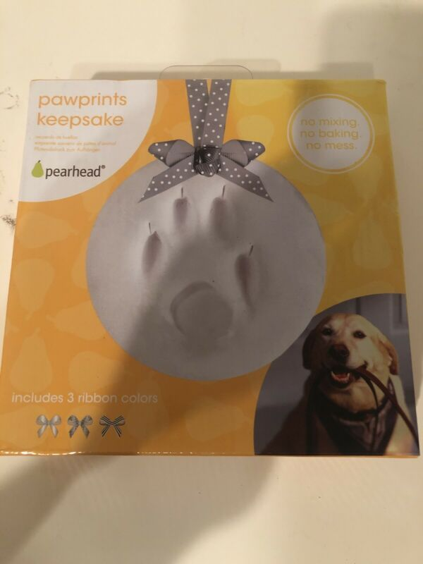 Pawprints Keepsake By Pearhead New In Box No Mixing No Baking No Mess Ebay In 2020 Paw Print Ebay Matting Pictures