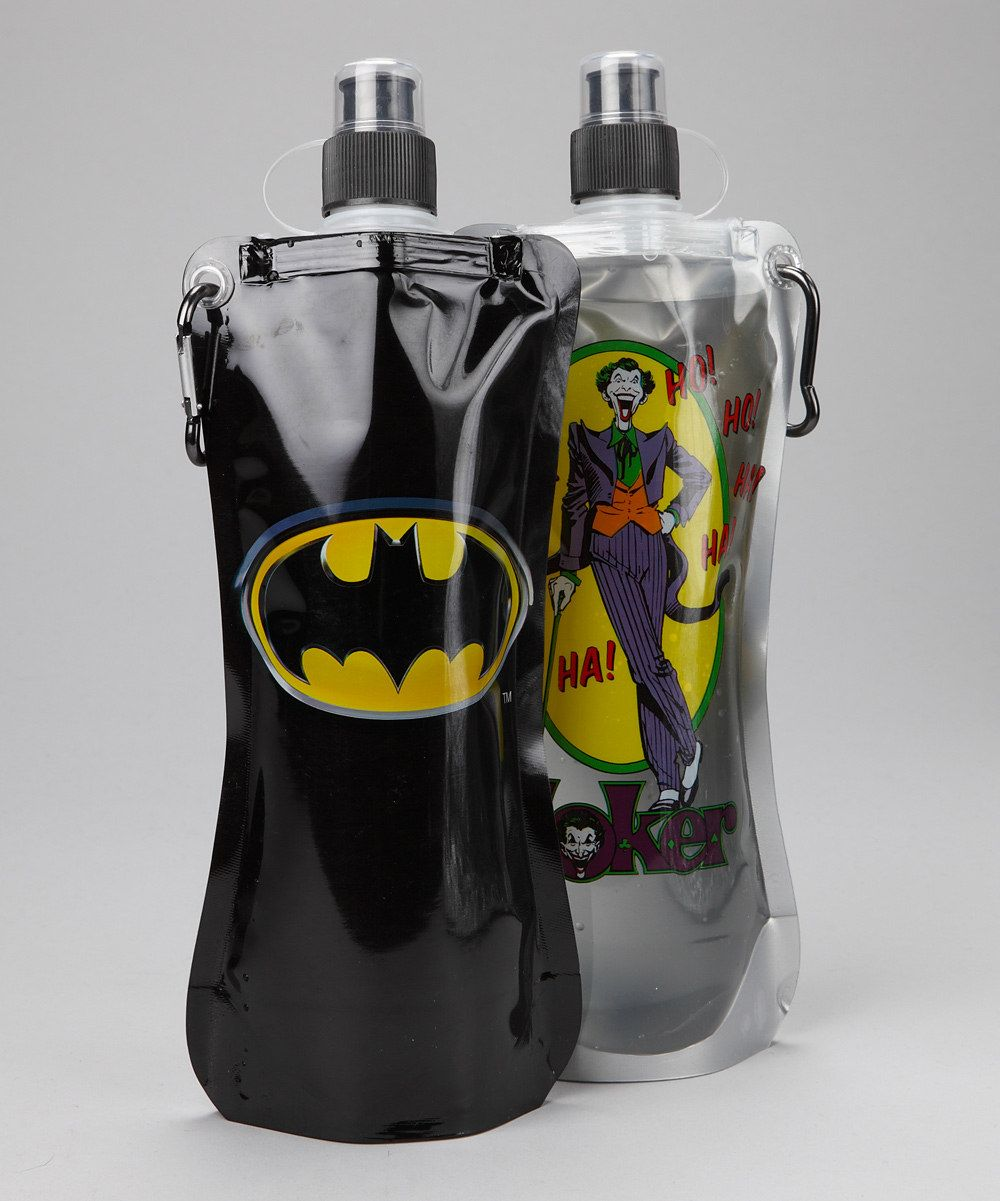 Batman 20 oz. Hydration Bottle - Set of Two... Michael will love these!;)