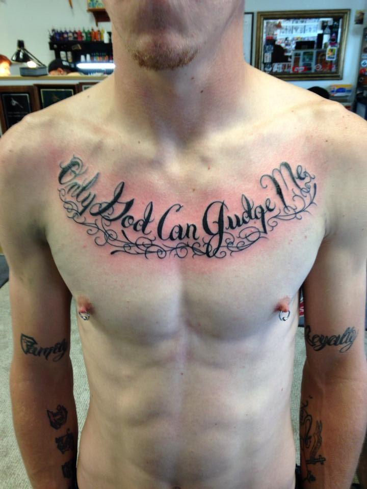 Christian Chest Tattoo : christian, chest, tattoo, Tattoos