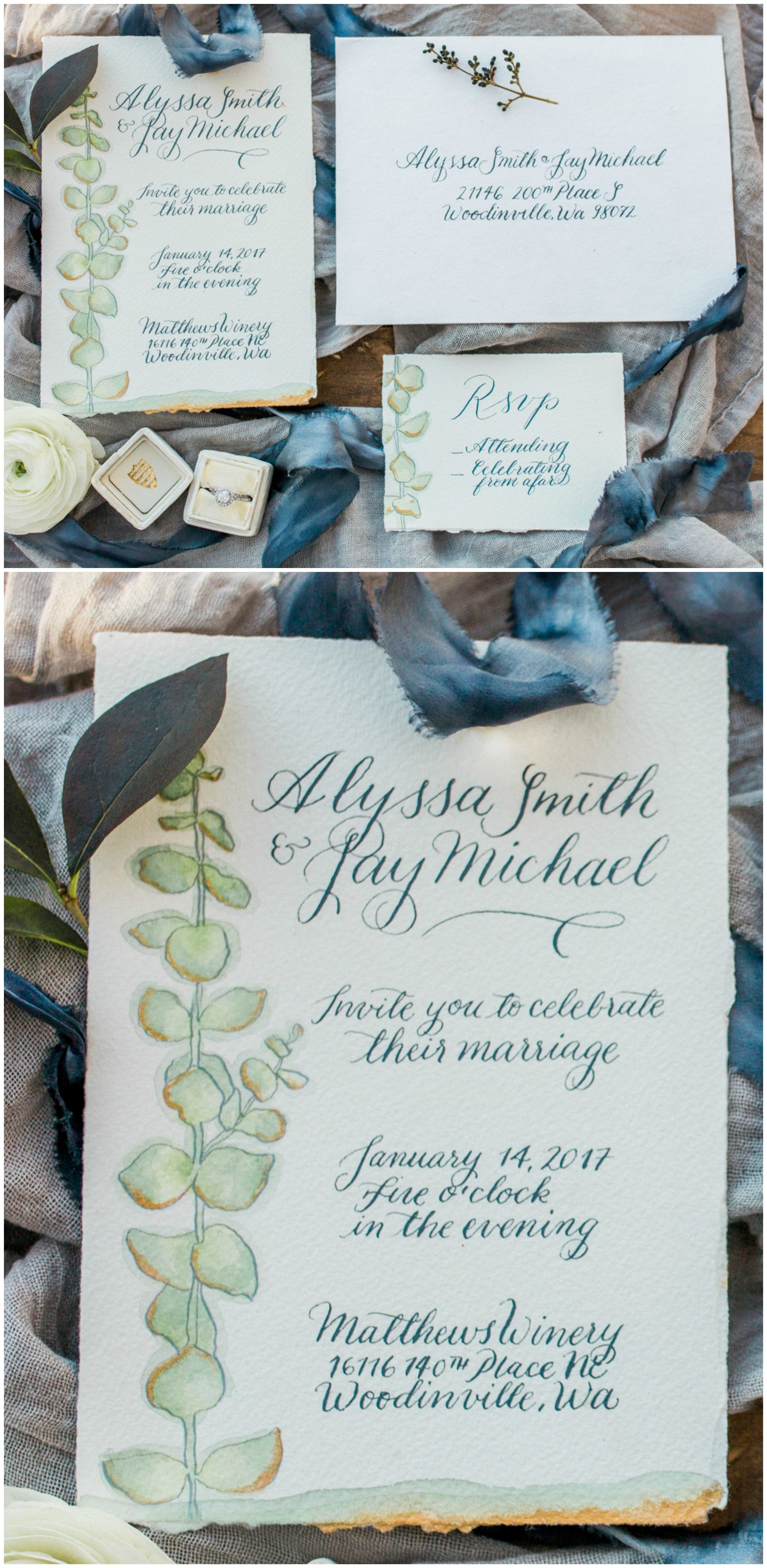 deer hunter wedding invitations%0A Ethereal Alfresco Styled Shoot in Hues of Blue  Natural wedding invitation