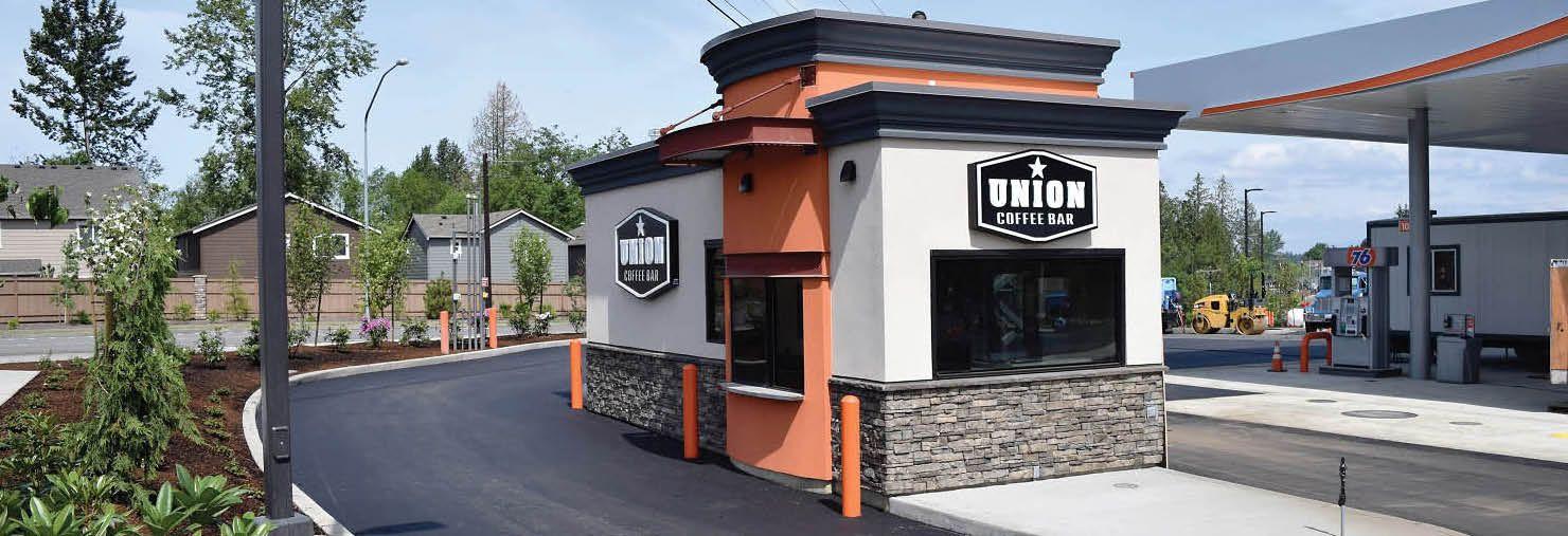 Union Coffee Bar Drive Thru Espresso Stand In Lake Stevens Wa Drive Thru Coffee Coffee Stands Coffee Business
