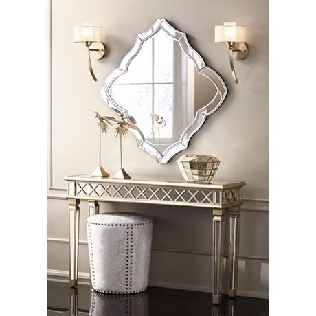 Divonne Classical Silver Mirrored Console Table 7y953 Lamps Plus Mirrored Console Table Gold Wall Sconce Possini Euro Design