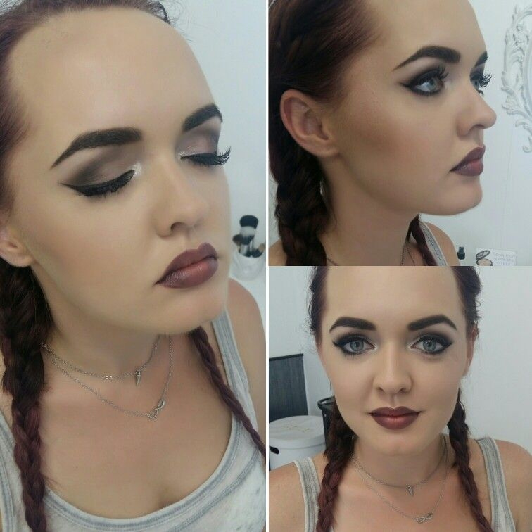 Makeup done by us. Eyes, lips, brows and glow created with MAC ...