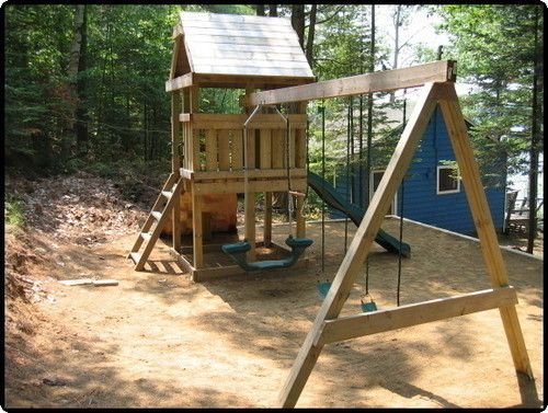 Learn How To Build A Fort Swing Set Jungle Gym Plans H1 Backyard Playset Swing Set Plans Gym Plans
