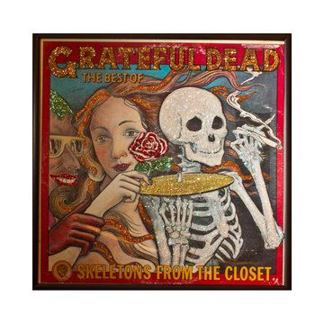 Grateful Dead Album Art - featured on Fab. Vintage LPs with glitter!