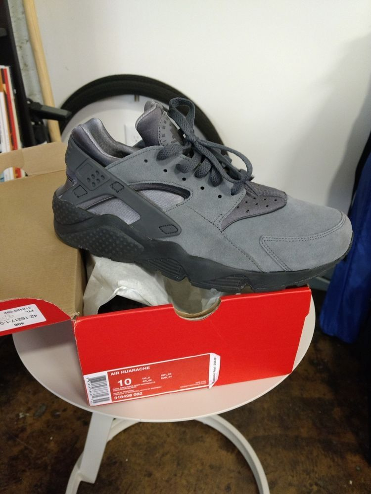 buy popular a976f d1daa ... Athletic Shoes by Elsie Scott. Nike Air Huarache Cool Grey Suede Mens  Size 10 318429-082  fashion  clothing
