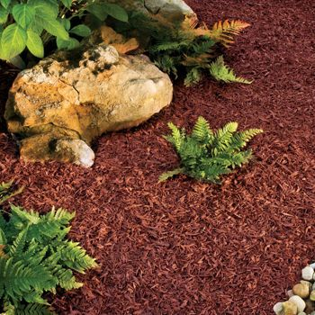 Rubberific Recycled Rubber Landscape Mulch Redwood Color Rubber