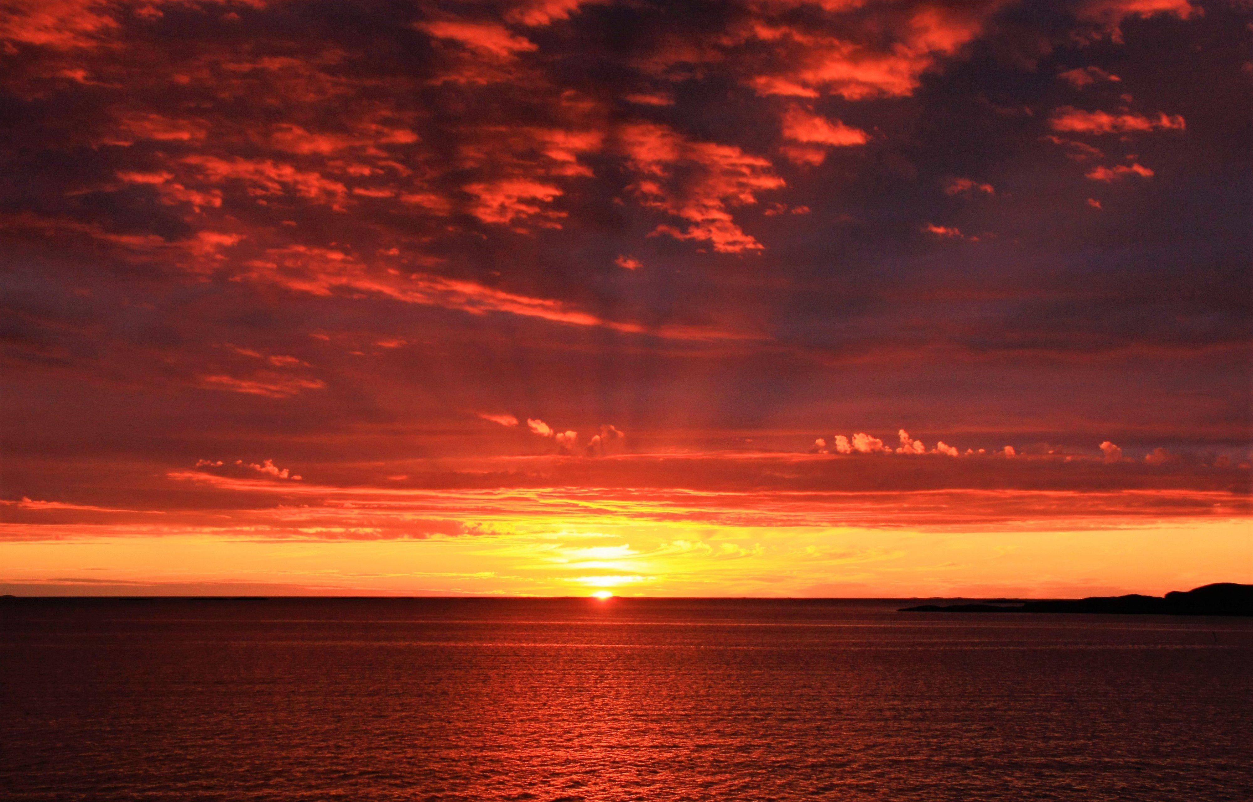 4000x2560 Wallpaper Horizon Sunrise Sea Sun Sunset Sunrise Sunrise Wallpaper