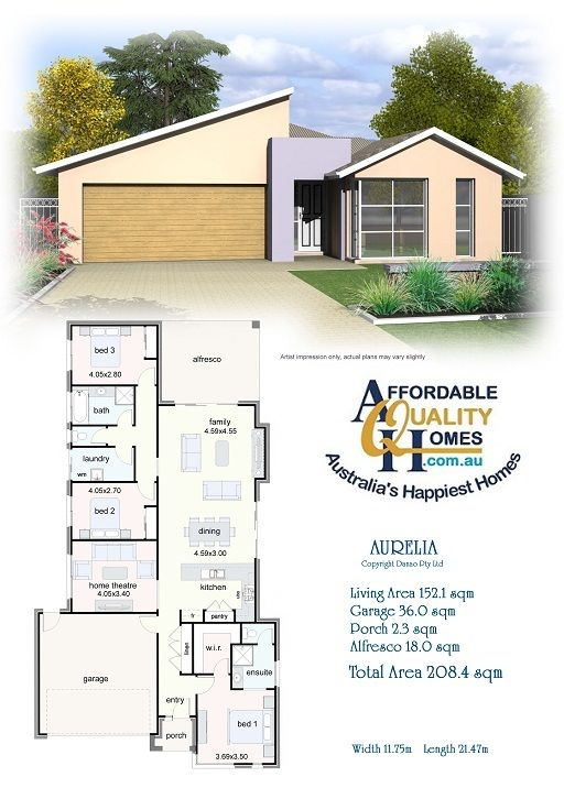 Affordable Quality Homes Aurelia 208sqm Similar To Vicky Viewed House Plans Home Design Plans House Design