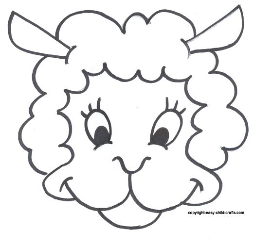 Free Printable Sheep Mask Template – Free Printable Face Masks